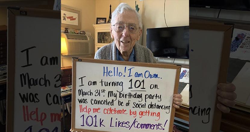 101回目の誕生パーティーが新型コロナで中止に。代わりに「いいね」をおねだりしたら、祝福コメントが殺到