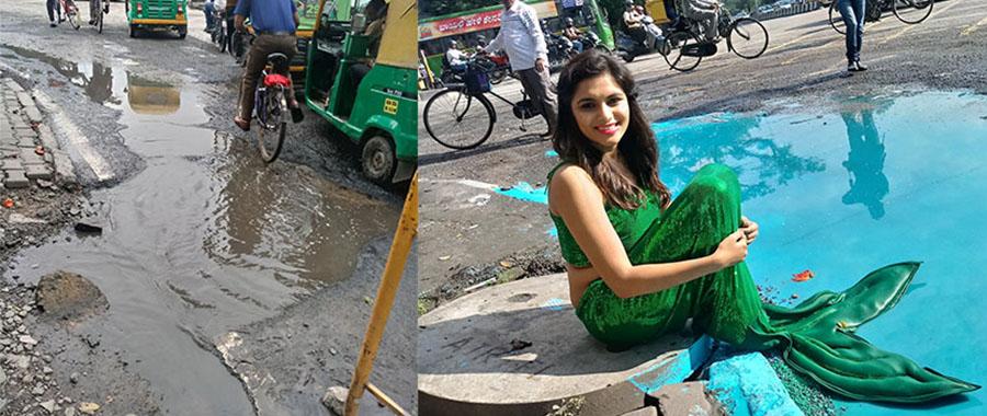 インドのバンクシー、ストリートアートをバズらせて道路の修繕を次々実現