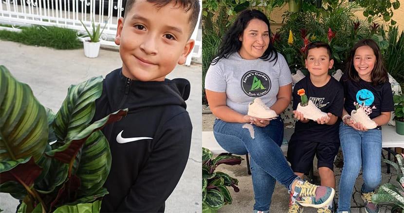 コロナ禍で母親が仕事を失いホームレスに。8歳息子、植物販売のビジネスを始め困窮した一家を救う