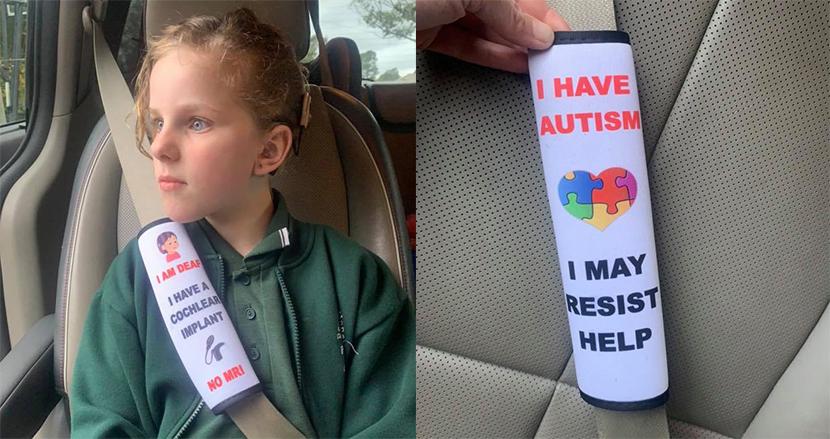 「MRIは使えません」耳が不自由な子どものシートベルトに書かれたメッセージにハッとさせられる