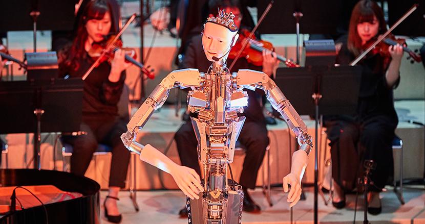 【動画アリ】人工生命×アンドロイド「オルタ3」の4社共同PJが始動し、オペラを指揮しながら歌う『Scary Beauty』を公開