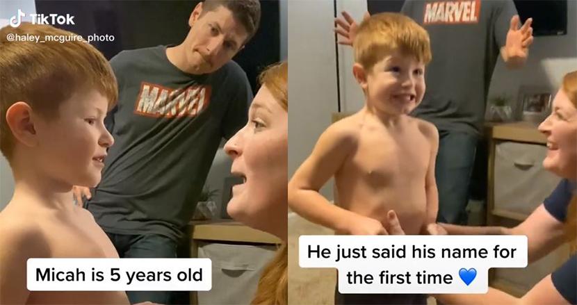 話すことが出来なかった自閉症の5歳の男の子、初めて自分の名前を呼んだ瞬間にSNS上で歓喜の嵐