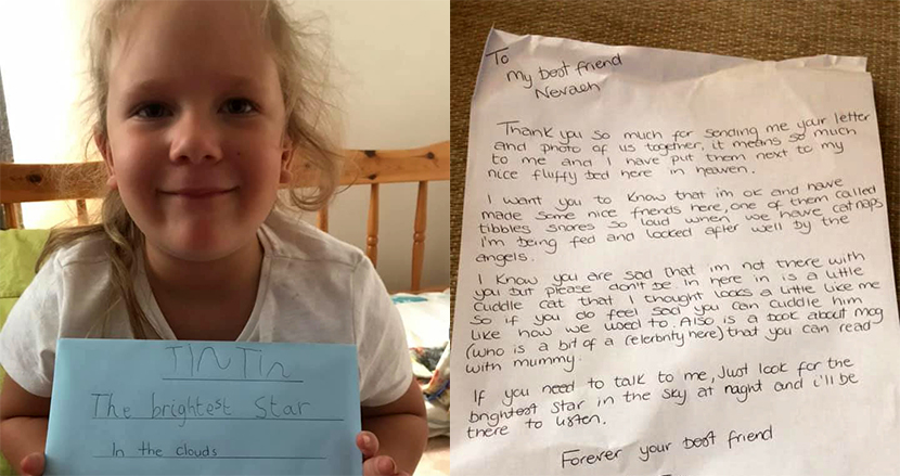 天国の愛猫に向けて手紙を送った5歳の女の子、するとまさかの返事が!素敵なサプライズに思わずほっこり