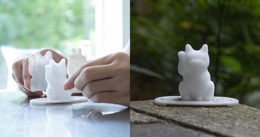 招き猫の形に盛り塩が作れる!超絶可愛い「にゃんでも招き猫メーカー」で2020年の運気アップ