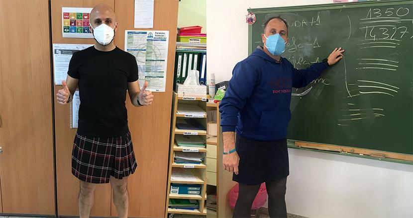 スカートを履いて教壇に立つ男性教師がスペインで続出。その理由に考えさせられる
