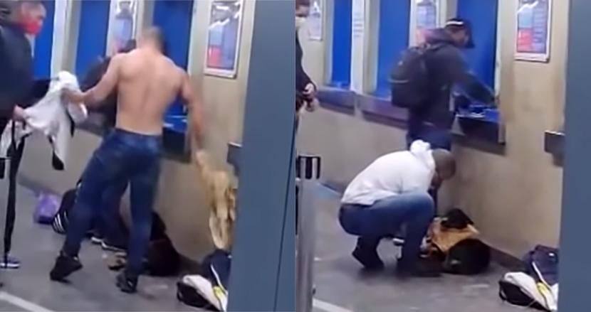駅で寒くて震えていた野良犬に、自ら着ていたシャツを脱いでプレゼントした男性。冬の日の心温まる出来事