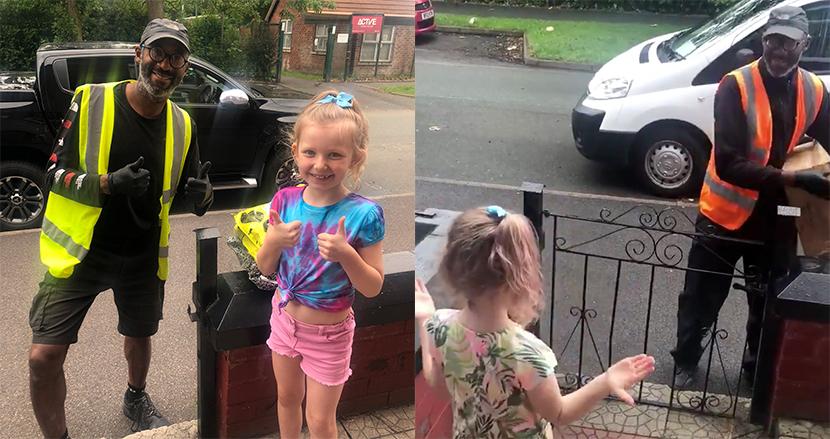 耳が不自由な配達員に感謝を伝えるため、8歳少女が手話で「良い一日を」。心温まるサプライズに思わずほっこり