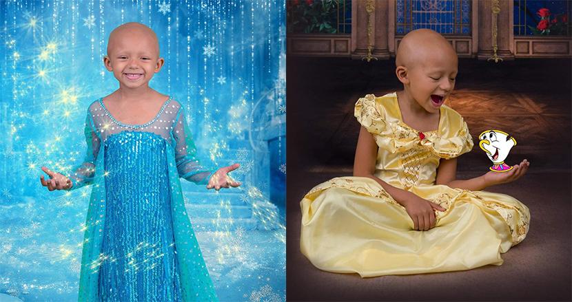 ガンと闘う5歳の少女がディズニープリンセスに大変身!カメラマンによる魔法のショットに感激