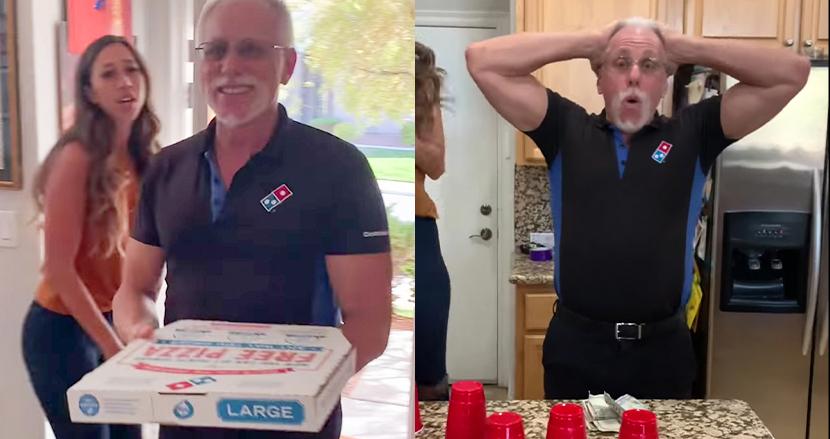 ゲームに誘われたピザの配達員、高額チップのサプライズに思わず号泣!エッセンシャルワーカーに感謝を