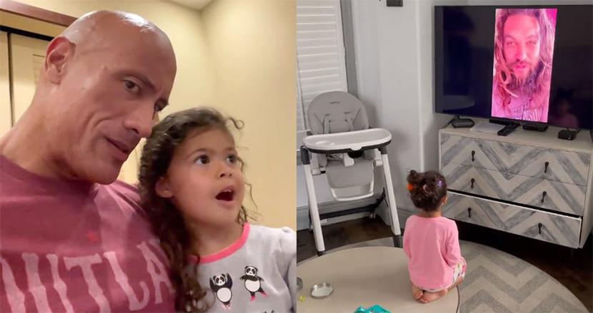 ドウェイン・ジョンソン、娘の3歳のお祝いに粋なサプライズ!憧れの人からのビデオメッセージに大歓喜