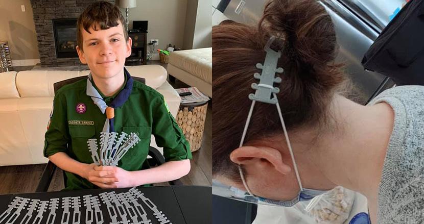 13歳少年、3Dプリンタ製イヤーガードを開発し、病院に1300本寄付。マスクによる耳の痛みを解消