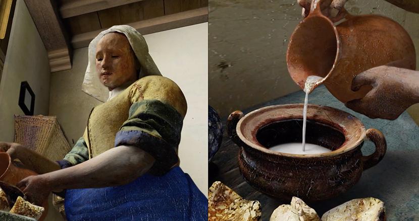 フェルメールの世界に飛び込める! 『牛乳を注ぐ女』を360度鑑賞できる新しいアート装置が話題