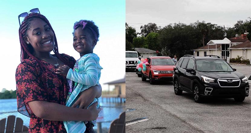 養子に迎えられた3歳女の子、コロナ危機でパーティーが中止に。すると地元住人が車でパレード