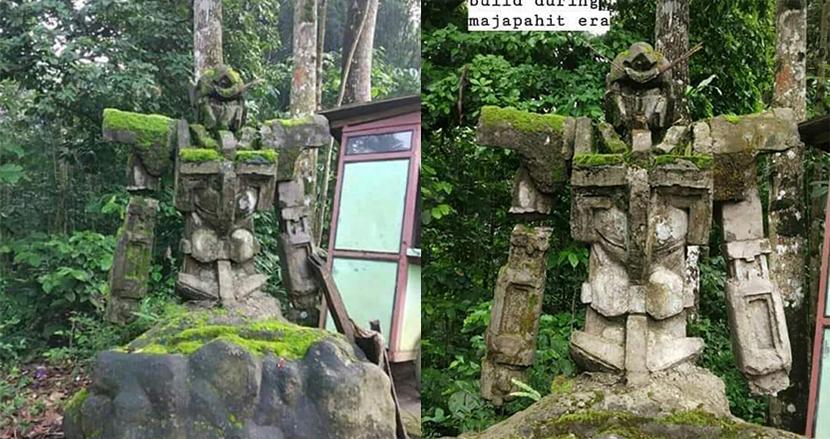 数百年前に建てられたと話題のガンダム石像、8年前にセメントで作られたと判明