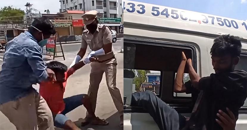 ロックダウン中に街をうろつく若者はコロナ患者と一緒の救急車に!インド警察の超過激な啓蒙動画が話題