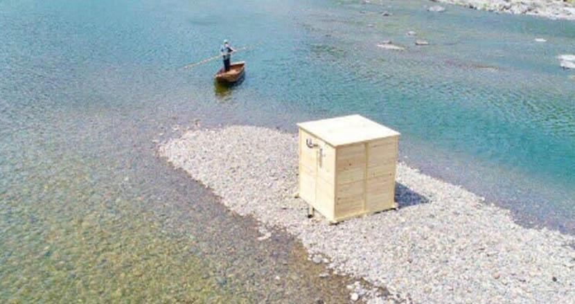 四万十ヒノキ100%の移動式サウナが購入・貸し出し可能。四万十川のほとりで贅沢にととのう