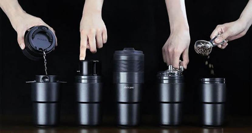 「ミル+フィルター+ケトル」コーヒーに必要な全てが一体となったタンブラー「SoloCano」でいつでも挽きたてが飲める