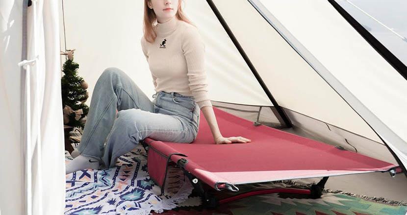 重さはトイプードルと同じぐらい。ホテルベッドのような寝心地を実現した新型『キャンプコット』Naturaldrop