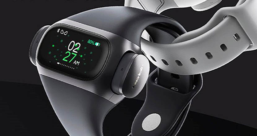 運動不足はガジェットで解決。完全ワイヤレスイヤホン搭載型スマートウォッチ「wearbuds」