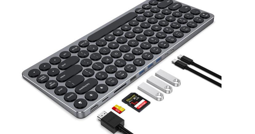 必要なポート類全部揃えた9in1ハブ付きキーボード「Kolude K2」。機能的なのにスタイリッシュって珍しいよね