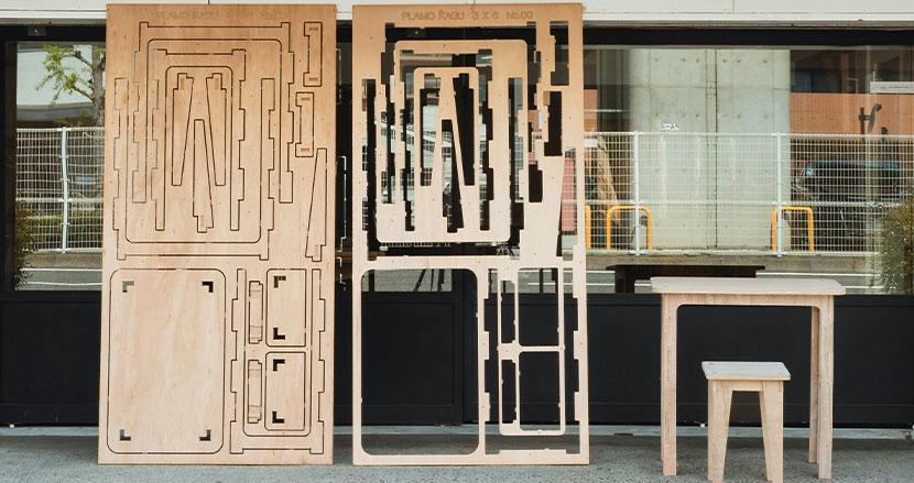 プラモ感覚でデザイン家具を組み上げる「プラモ家具3×6(サブロク)」
