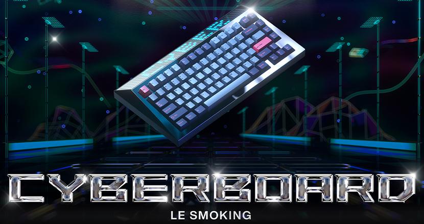 巨大LEDパネルが光り輝く。中国発サイバーパンク・ゲーミングキーボード「CYBERBOARD R2」