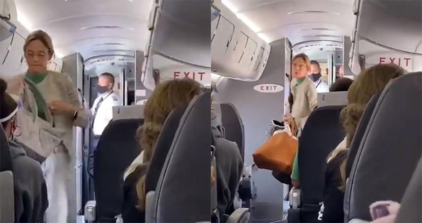 機内でのマスク着用を拒否する自己中女性、飛行機から追い出されると乗客から拍手喝采が