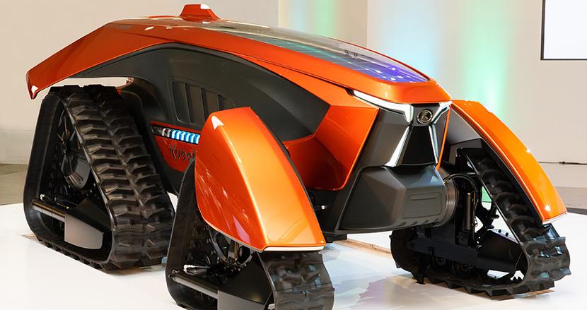 AIで完全無人の自動運転を実現。「かっこいい未来の農業」のビジョンを示すクボタの夢のトラクター「X tractor」