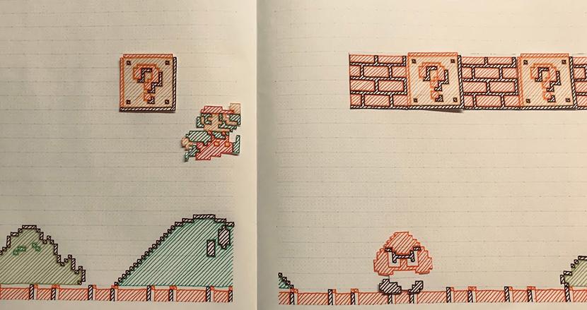 ノートの中でマリオがなめらかに走る!ゲームを再現したストップモーションアニメがすごいと話題