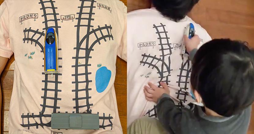日本人のお父さんが作った『子供がマッサージしたくなるTシャツ』に、海外から「天才かよ!」と絶賛の嵐