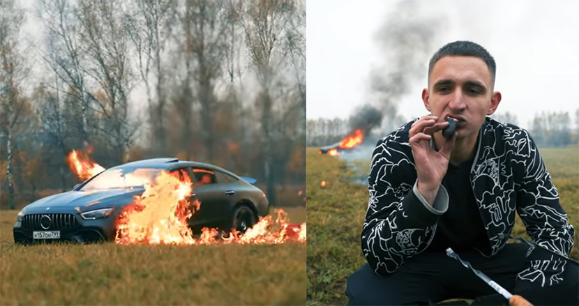 2000万円超の愛車メルセデスを燃やしたロシア人YouTuber、彼が訴えようとしたこととは?