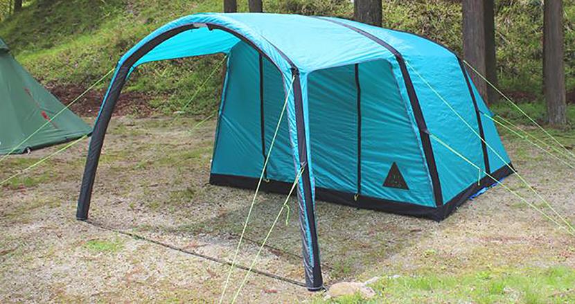 たった2分で完成!空気を入れて簡単に組み立てられる自立式テント「エアフレームテント」