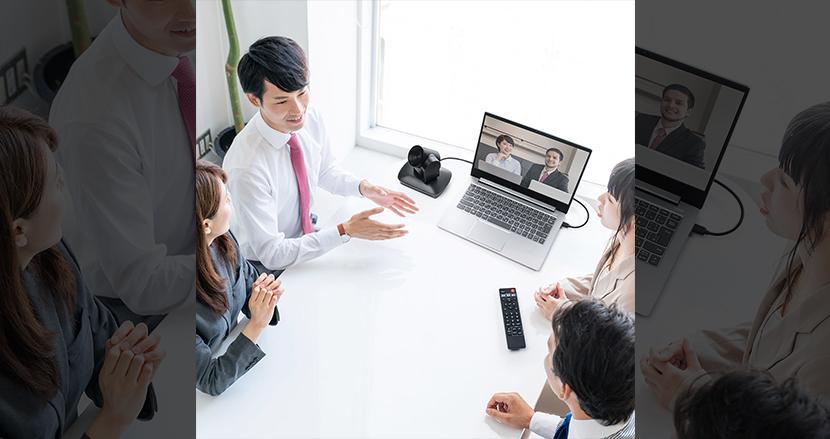 誰が話しているかがわかりやすい! 発言者を自動的にカメラが追うビデオ会議向けWebカメラ
