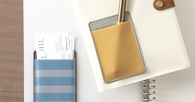 手帳やトートにポケットを付けると使い方広がる。シール型のポケット「ポケットシール のびる」