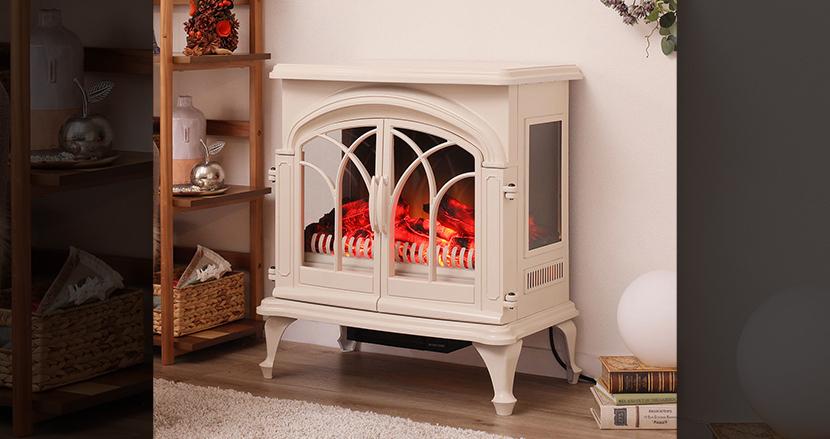 マンションに暖炉!?「暖炉気分が味わえるファンヒーター」がニトリから発売