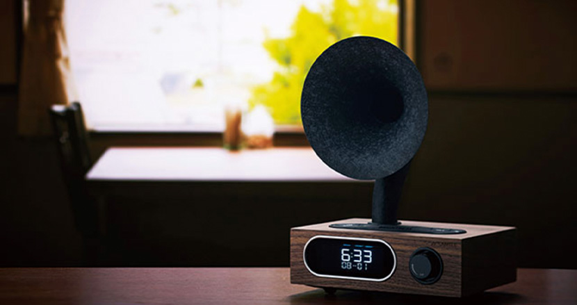 Bluetooth対応のノスタルジックなアサガオスピーカー「MSR-5」