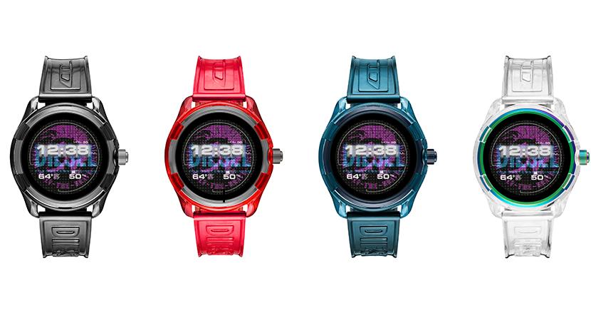 ディーゼルからカラフルな4色展開のWearOS搭載スマートウォッチ「DieselOn Fadelite Smartwatch」登場