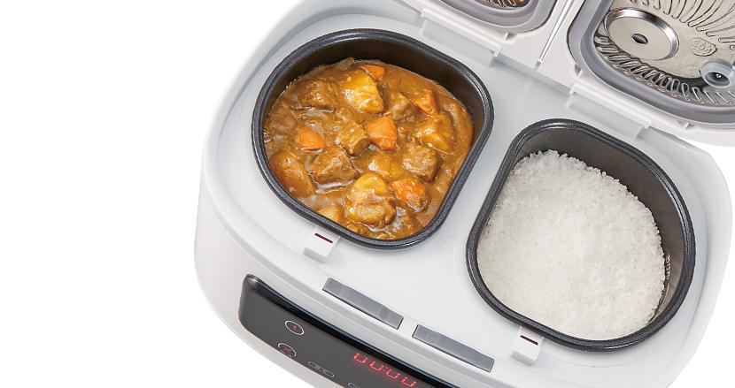 おかずとご飯を同時に調理! 時短にもほどがある自動調理鍋「ツインシェフ」