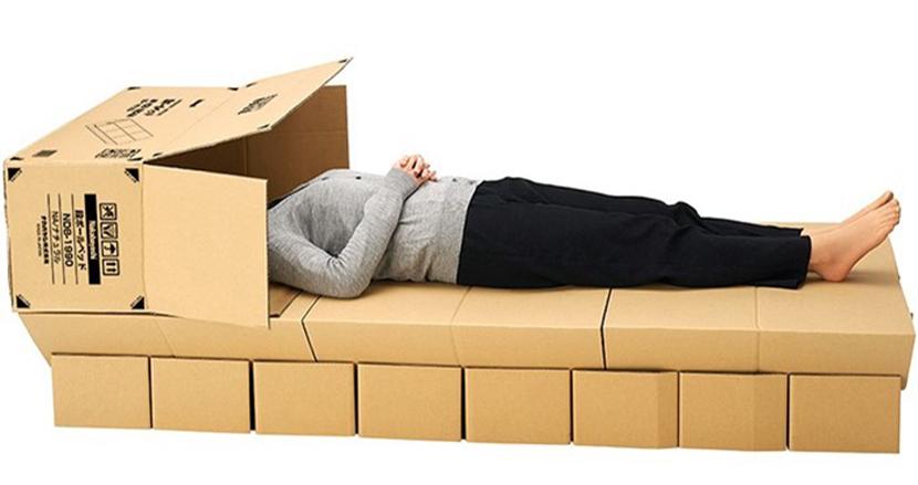 避難所生活にも役立つ。5分で組み立て可能な非常用簡易ベッド「段ボールベッド」