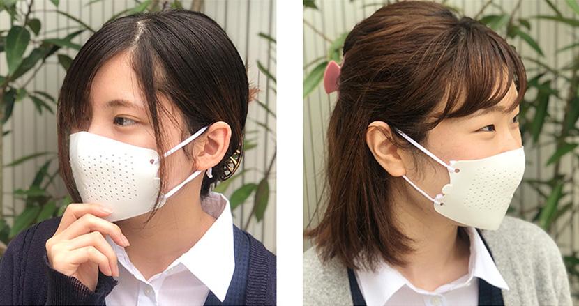 身近なものをフィルターにして何度も使えるプラスチック製マスク「カワシマスク(KAWASHIMASK)」