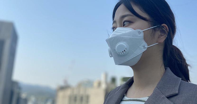 マスクの蒸れや息苦しさを解決!簡単にエアーバルブをマスクに追加する「maskut」