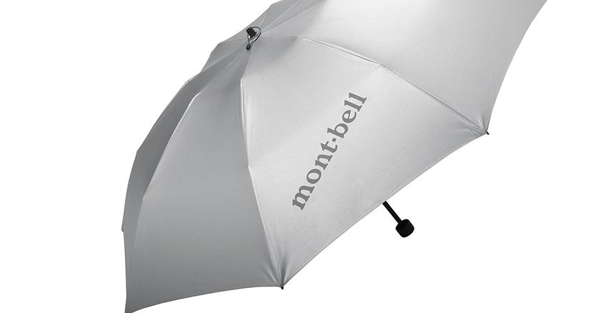 今年の夏は男性の日傘も一般的になるかも。晴れの日も雨の日も使えるmont-bellのシンプルな折りたたみ傘