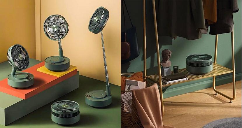 折りたためるのに高性能。加湿器やサーキュレーターとしても使える多機能扇風機「Edon」