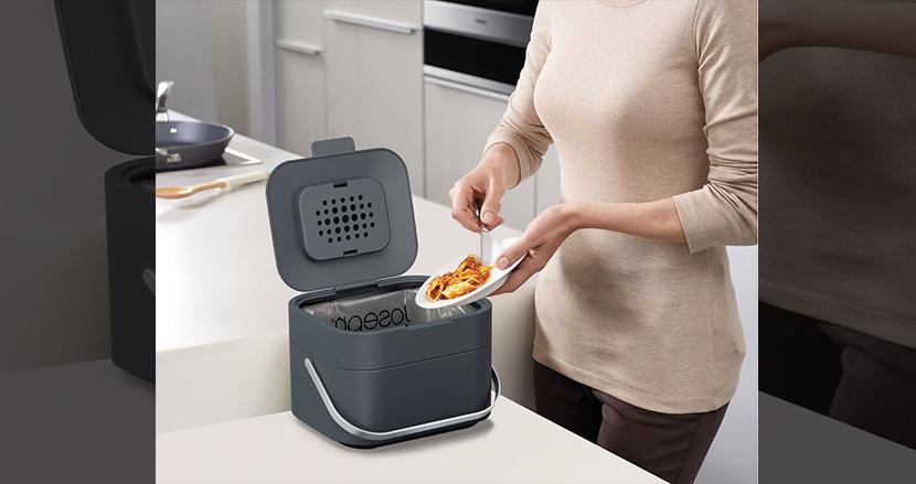 コンパクトでシンク周りにぴったりな生ゴミ用ゴミ箱「スタック4L」
