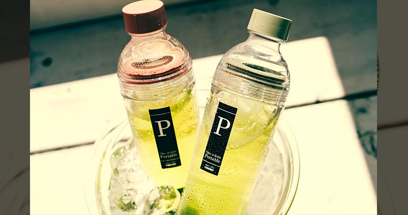 水出し茶を作りながら持ち運べる新しいボトル「フィルターインボトル・ポータブル」