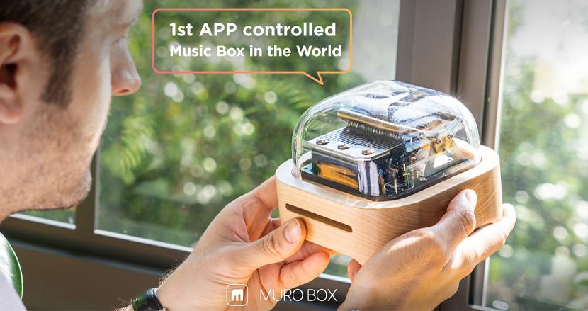 あらゆる音楽を奏でることができるスマートオルゴール「Muro Box」、米国クラファンで2500万円突破
