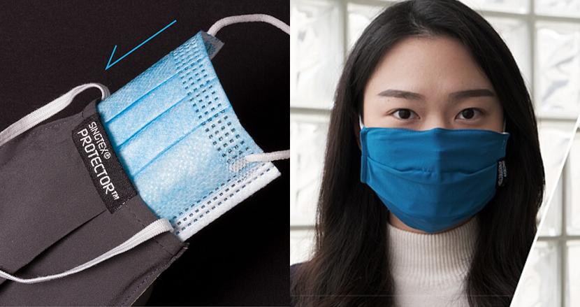 安価な使い捨てマスクを高性能マスクにアップグレード。タフなマスクカバー「SINGTEX PROTECTOR+」
