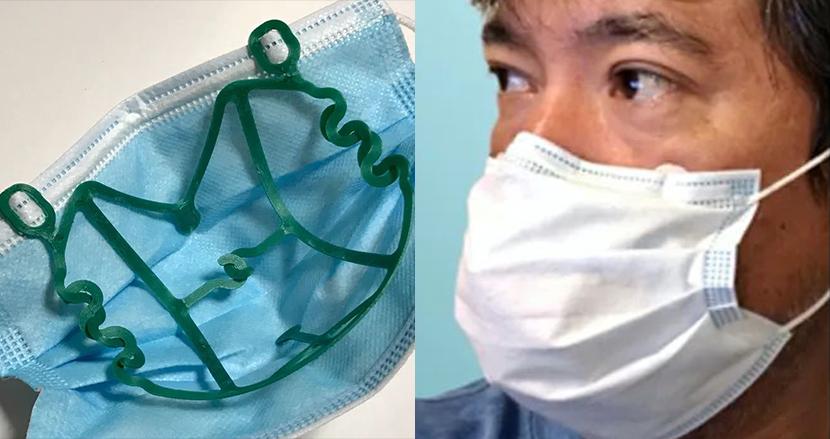 マスクの口元に空間を作り暑さ対策。使い捨てマスク用インナーフレーム登場