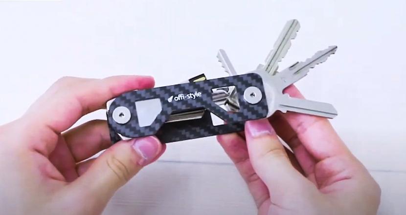 ジャラジャラと邪魔な鍵を超コンパクトに管理!使う時だけ取り出せる「キーオーガナイザー」