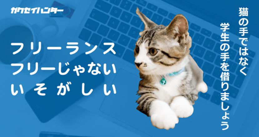 猫の手も借りたいフリーランスが「スキルのある学生」に業務委託できるサービス「オトモガクセー」